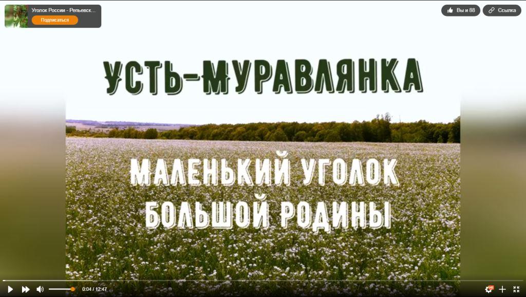 Подведены итоги IV районного онлайн - конкурса видеофильмов и видеопрезентаций «Уголок России- Репьевский район»